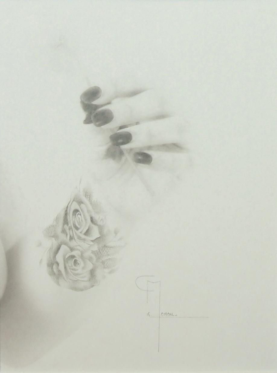 """""""Se souvenir II"""", dessin aux crayons sur papier 220 g., au format 21 x 29,7 cm"""