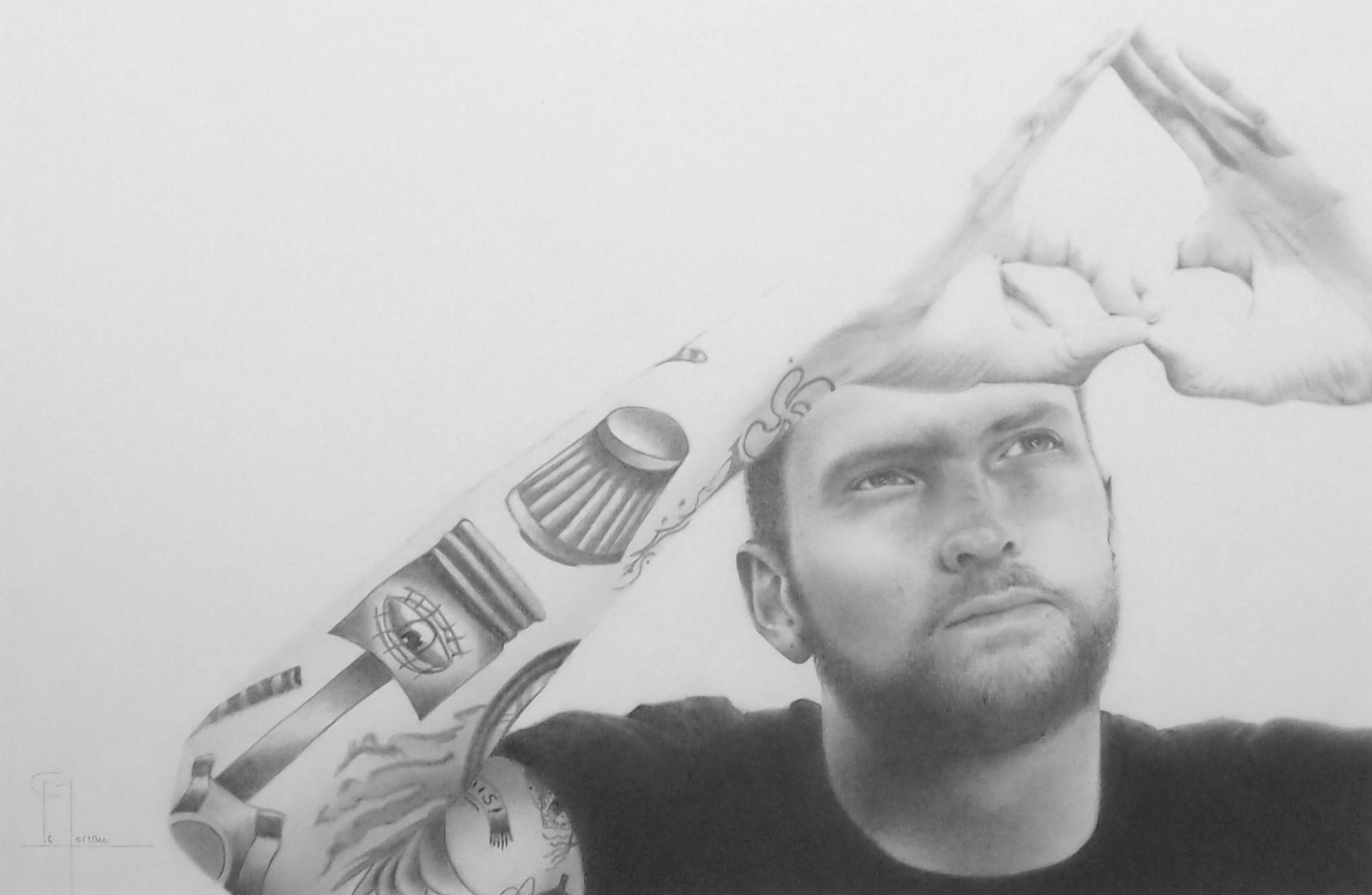 """""""Savoir qui l'on est"""", dessin aux crayons sur papier 220 g., au format 29,7 x 42 cm"""