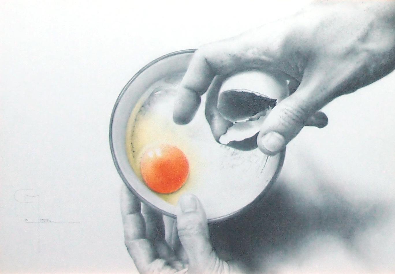 """""""A table !"""", dessin aux crayons sur papier 220 g., au format 21 x 29,7 cm"""