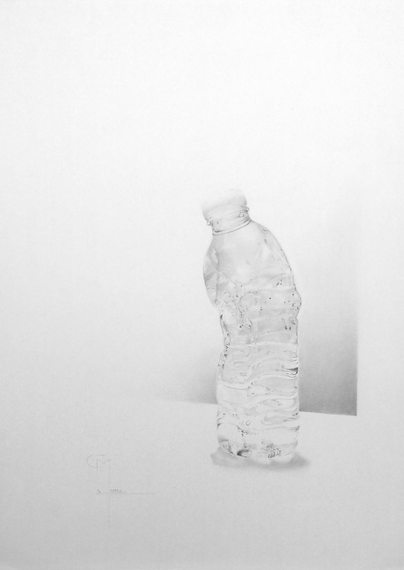 """""""Ecrasé"""", dessin aux crayons sur papier 220 g., au format 29,7 x 42 cm"""