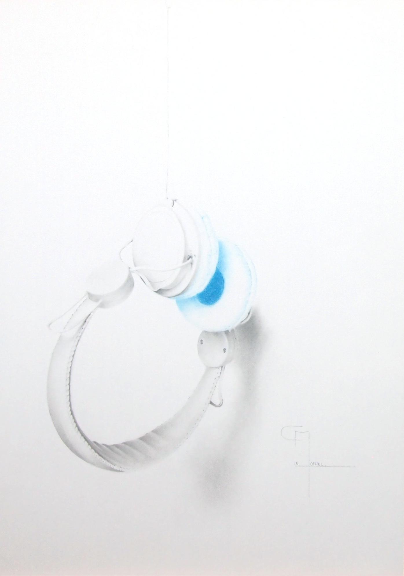 """""""Elastic heart"""", dessin aux crayons sur papier 220 g., au format 29,7 x 42 cm"""