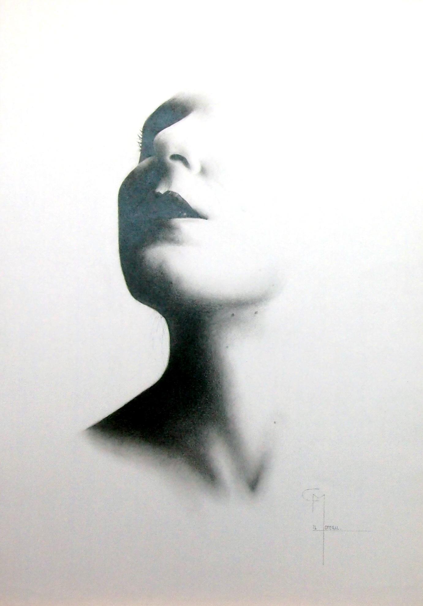 """""""Oubli"""", dessin aux crayons sur papier 220 g., au format 29,7 x 42 cm"""