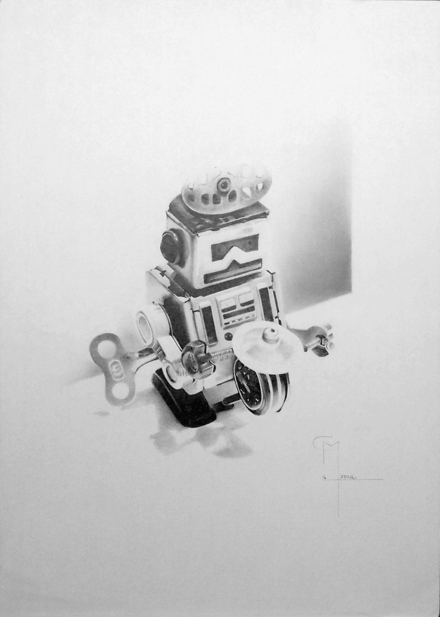 """""""REMEMBER"""",dessin aux crayons sur papier 220 g., au format 29,7 x 42 cm"""
