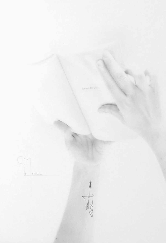 """""""Tout commence ici"""", dessin aux crayons sur papier 220 g., au format 21 x 29,7 cm"""