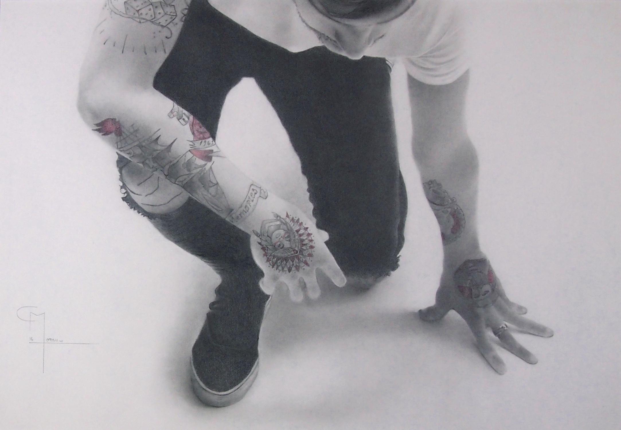 """""""Une nouvelle étape"""", dessin aux crayons sur papier 220 g., au format 29,7 x 42 cm"""