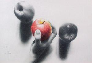 """""""Eden"""", dessin aux crayons sur papier 220 g., au format 21 x 29,7 cm"""