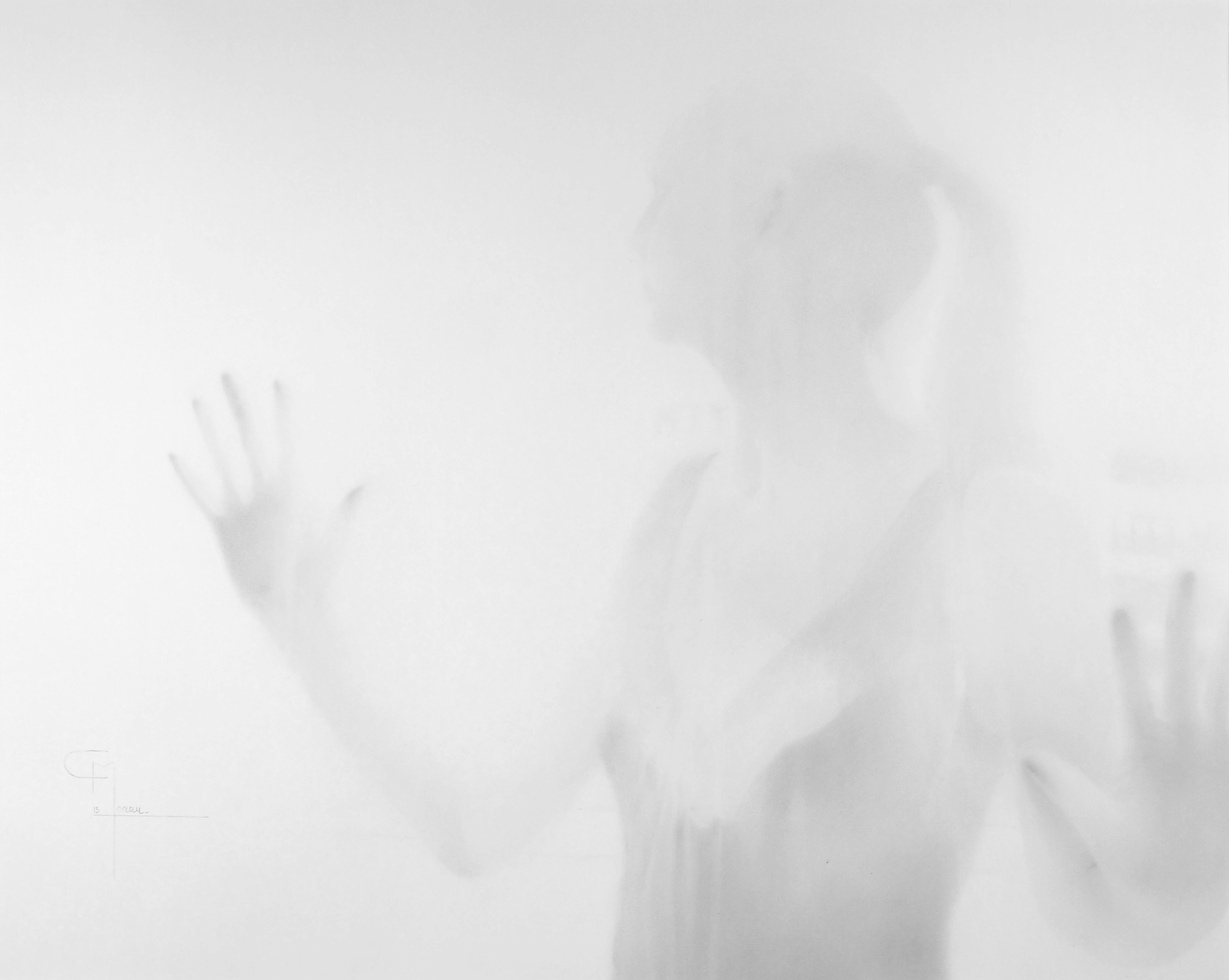 """""""Contact"""", dessin aux crayons sur papier 220 g., au format 42 x 60 cm"""