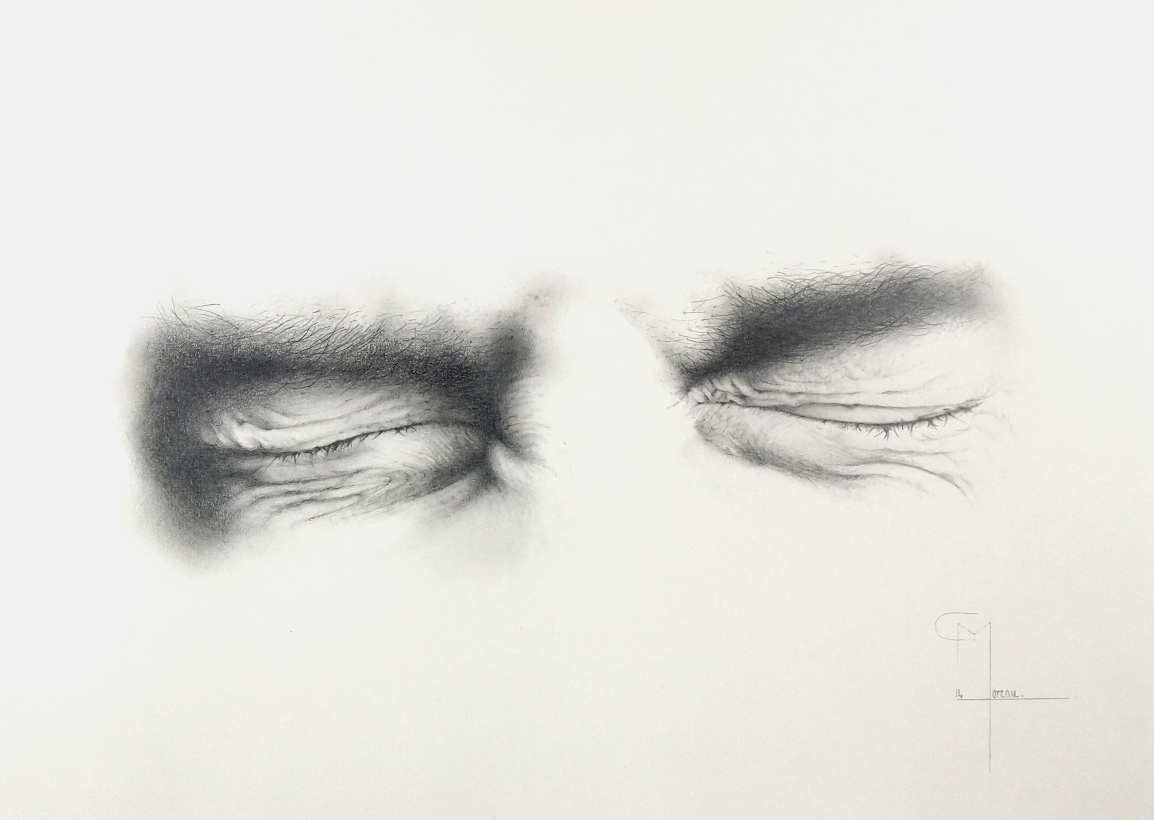 """""""Escape"""", dessin aux crayons sur papier 220 g., au format 29,7 x 42 cm"""