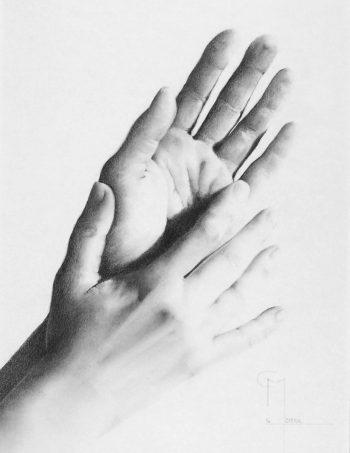 """""""Join"""", dessin aux crayons sur papier 220 g., au format 21 x 29,7 cm"""
