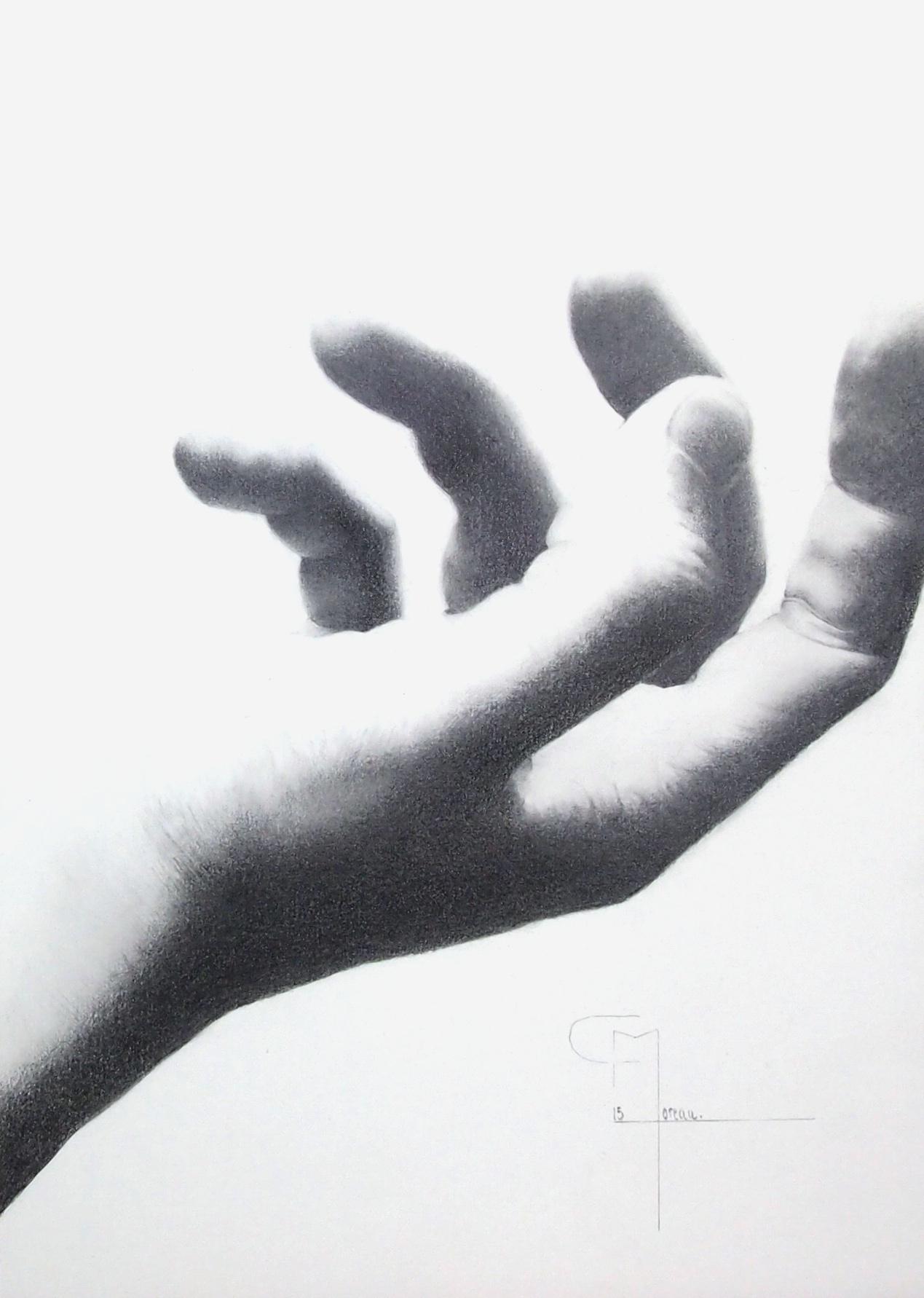 """""""Rencontre"""", dessin aux crayons sur papier 220 g., au format 21 x 29,7 cm"""