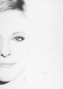 """""""Smile"""", dessin aux crayons sur papier 220 g., au format 21 x 29,7 cm"""