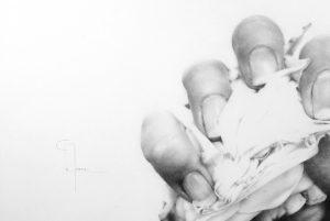 """""""Le temps passe"""", dessin aux crayons sur papier 220 g., au format 21 x 29,7 cm"""