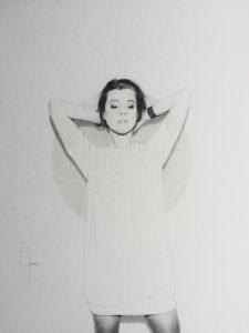 « Tonight 2 », dessin aux crayons sur papier 220 g., au format 42 x 29,7 cm