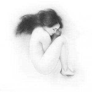 """""""Sans titre 1"""", dessin aux crayons sur papier 220 g., au format 20 x 20 cm"""