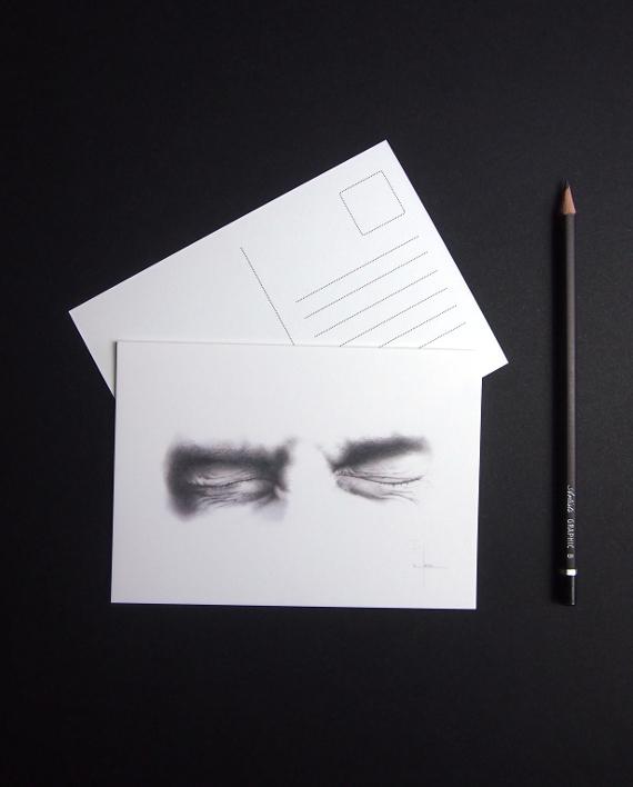 ChristopheMoreau-dessin-yeux-escape-cartepostale