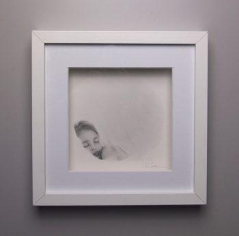 """""""Dimanche"""", dessin aux crayons de papier sur papier d'art lisse 220g, au format 20x20 cm"""